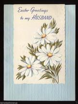 Unused Vintage EASTER Greetings CARD To HUSBAND Embossed 1940's - $5.95