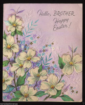Unused Vintage EASTER CARD For a SWELL BROTHER 1940's with Glitter - $5.95