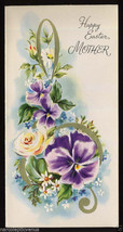 Unused Vintage EASTER Greeting CARD for MOTHER 1940s G Clef Flowers Musi... - $5.95