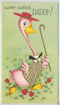 Unused DADDY EASTER Dicky DUCK Vintage EASTER Greeting CARD 1940's Fathe... - $7.00