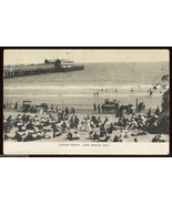Victorian Bathers LONG BEACH Ocean Front PIER Boardwalk CALIFORNIA POSTCARD - $5.00