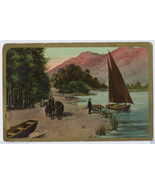 1912 SAILBOAT on Lake HORSE & Carriage Theochro... - $4.75