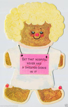 1960's GINGERBREAD Man GET WELL Vintage Greeting CARD Buzza Cardoza UNUSED - $5.00