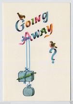 1960's GOING AWAY Bon Voyage VACATION Trip TRAVEL GOOD-Bye Vintage Greet... - $4.95