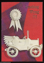 Antique AUTOMOBILE Car Vintage GET WELL Greeting CARD Unused 1960's - $8.00