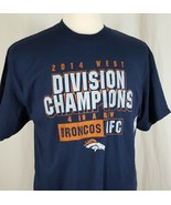 Denver Broncos 2014 NFL AFC West Division Champions T-Shirt Four in a Ro... - $13.35