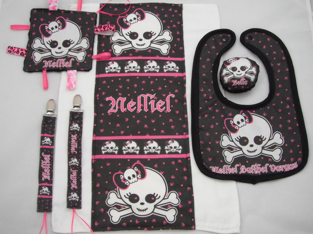 Punk Princess Girly Skull Baby Shower games activity Printable DIY set of 3