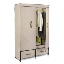 Portable Double-Door Wardrobe with 2 Drawers He... - $84.75