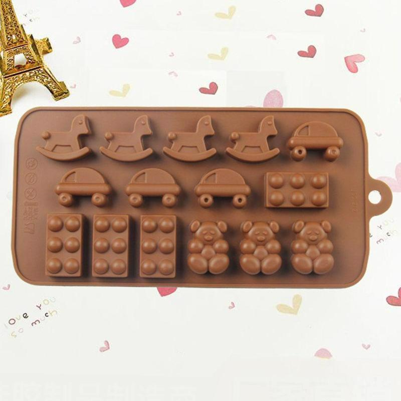 Silicone Chocolate Mold DIY Ice Cube Pudding Jelly Biscuit Mould Bakeware Tool