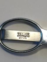 Vintage 70s Vernco stainless folding scissors in vinyl case image 6