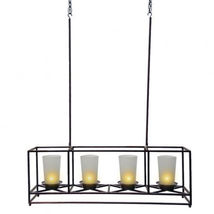 PartyLite 4-Candle Bronze Framework Chandelier and Centerpiece - $84.00