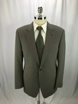 Armani Collezioni Men's Brown Nailhead Blazer Jacket Sport Coat 42R - $79.97