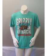 Vintage Vancouver Grizzlies Shirt - Attack Grizzlies In Teal -Mens Large - $49.00