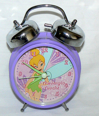 TINKERBELL THE MAGIC TOUCH ALARM CLOCK DISNEY PURPLE