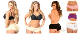 Plus Size - Cute  Ruffle Boy Short Panty with Bow - $25.95