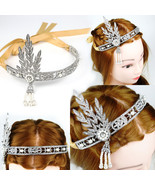 Flapper 1920's Great Gatsby Style Pearl Crown JSDT Head Hair Dress Band Bridal - $8.99