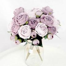 Artificial Silk Peony Rose Flower Fake Wedding Bouquet DIY Home Party De... - $4.69+