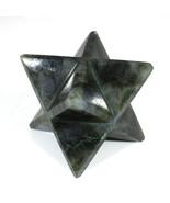 Labradorite Merkaba Star Large Sacred Geometry Quartz Reiki Point 8 Healing - $85.00