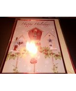 Happy Holidays 16 Ct Foil Three Birdhouses Christmas Cards with Envelopes - $6.92