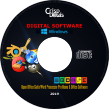 NEW 2019 Open Office Suite Word Processor CD for Microsoft Windows & Mac OS - $9.85