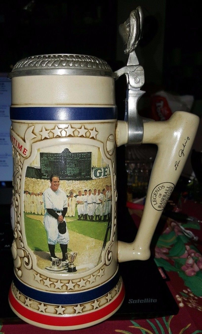 1993 Bradford Museum Lou Gehrig Legends of Baseball Signature Series 2nd Stein