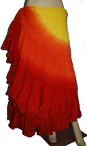 Triple Dye 25 yard Cotton Plus Size belly dance skirt Dance EHS - $44.10