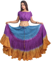TRIBAL DANCE ATS JAIPUR SKIRT Tie Dye Tri color - $49.00