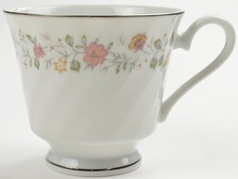 Sheffield Bouquet Pattern Footed Cup Porcelain Fine China Teacup Japan Floral - $4.99