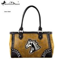 Montana West MW249-8394 Horse Collection Handbag-Khaki - $56.93