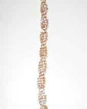 Gold Rhinestone Bracelet, Twisted Rhinestone Bracelet, Gold Crystal Bracelet