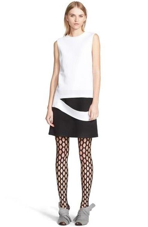 Proenza Schouler Dress Black White Slash Trompe L'Oeil Sleeveless NWT $750 4