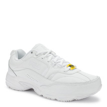 The Fila Memory Workshift  Slip Resistant Shoes in White in Sizes 6.5 to 15 - $64.99