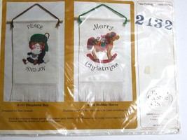 LOT 5 The Creative Circle Stichery Kits 2 items each Christmas  Animals - $7.30