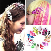 Kawaii Clothing 2PCs Skeleton Hands Hairpin Skull Punk Harajuku Japanese Korean - $10.29