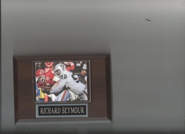 RICHARD SEYMOUR PLAQUE OAKLAND RAIDERS LA FOOTBALL NFL GAME ACTION - $2.23