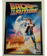 Back To The Future Hand Signed Poster UACC COA Michael J Fox Christopher... - $599.99