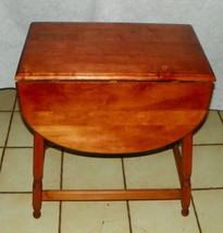 Light Cherry Dropleaf End Table / Side Table  (CS) - $349.00