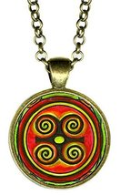 Adinkra DWENNIMMEN Humility with Strength Bonze Pendant - $14.95
