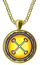 Adinkra NYAME NNWU NA MAWU Gods Omnipresence Gold Pendant - $14.95