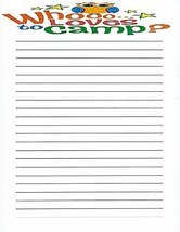 Kids Whooo Loves To Camp Lined Stationery Paper 26 Sheets - $9.99