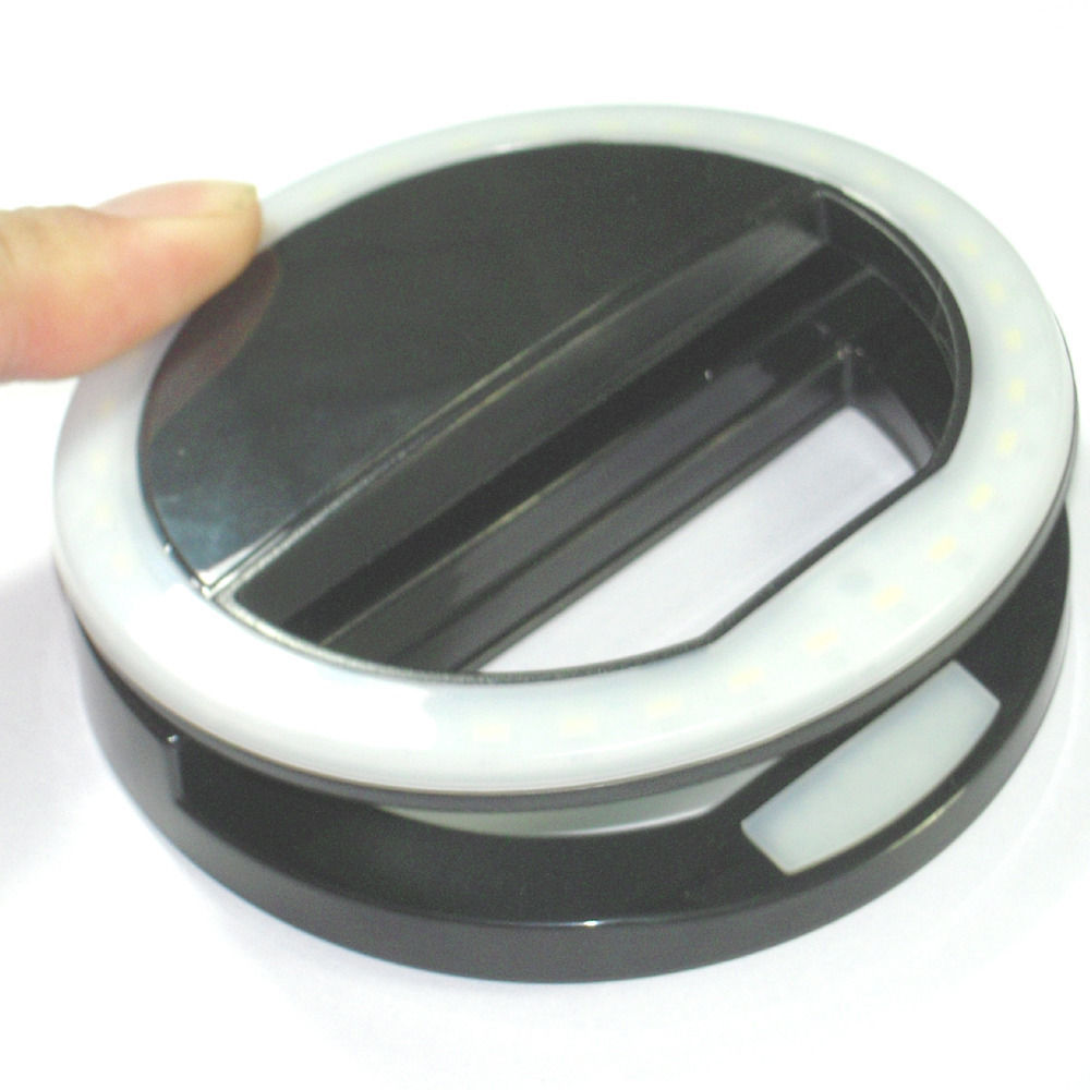 Portable Selfie LED Ring Flash Clip Fill Light Camera For Mobile Phone iPhone