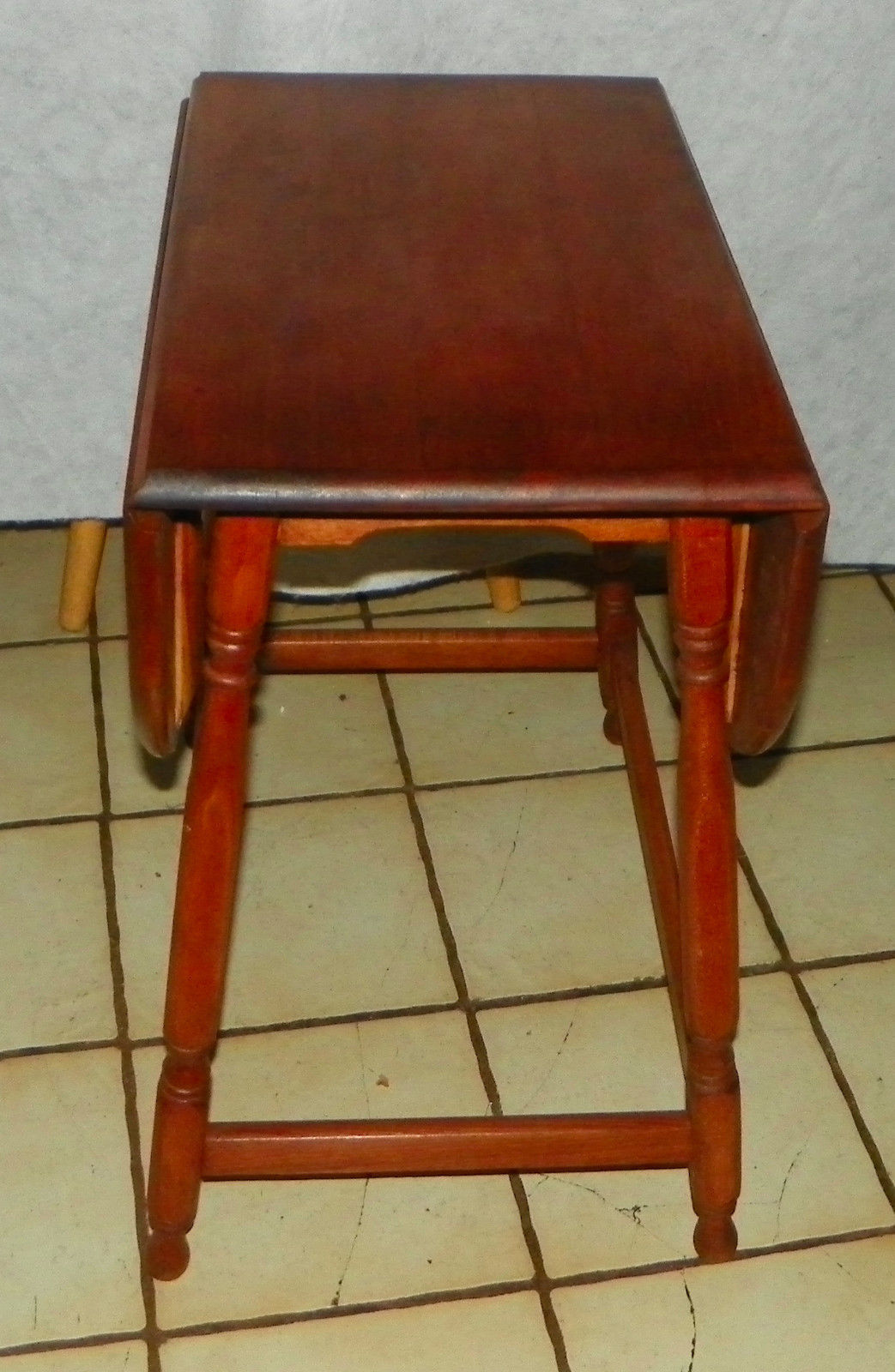 Light Cherry Dropleaf End Table Side And 50 Similar