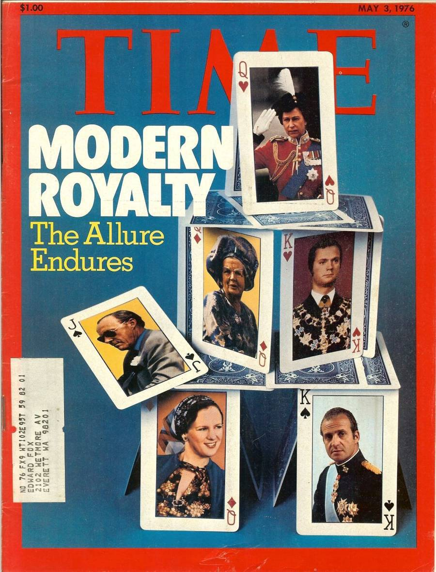 Primary image for time magazine may 3,1976 modern royalty playing cards on cover