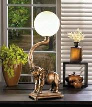 10017184 SHIPS FREE Charming Elephant Globe Desk Lamp - $61.98