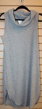 NEW WOMENS PLUS SIZE 3X GRAY COMFY MARLED RIBBED KNIT LONG TUNIC WITH CO... - $19.34