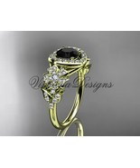 14kt yellow gold diamond, Sakura engagement ring Black Diamond VD8201L  - $2,675.00
