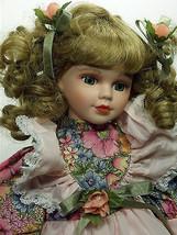 Doll Beutiful Honey Blond Hand Painted Porcelain Stuffed Plush - $53.45
