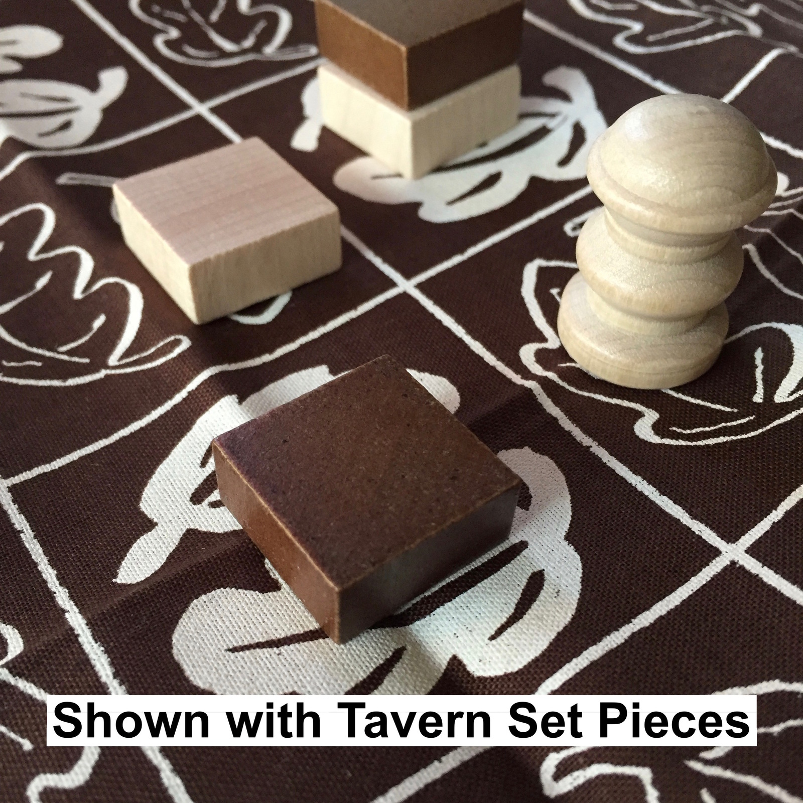Cloth Board for Tak: A Beautiful Game - Dark Brown & White