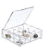 """6"""" Square Clear Acrylic 12 Compartment Cosmet... - £8.94 GBP"""