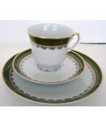 Vintage Tea Trio Seltmann Bavaria Green China S... - $65.00
